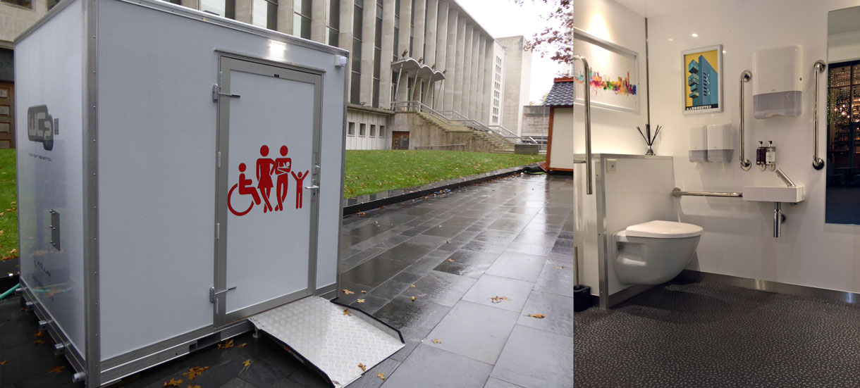 WC2 Accesible pod suitable for Brides, Parents with children and wheelchair users